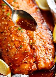Easy Honey Sesame Salmon In Foil - Cafe Delites Best Grilled Salmon Recipe, Baked Salmon Recipes, Fish Recipes, Seafood Recipes, Sesame Salmon Recipe, Smoker Recipes, Recipies, Sauce For Salmon, Salmon And Shrimp