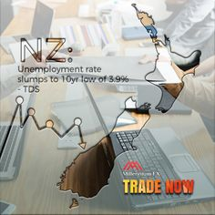 NZ: Unemployment rate slumps to low of - TDS. Unemployment Rate, Financial News, Investing, Asia, September