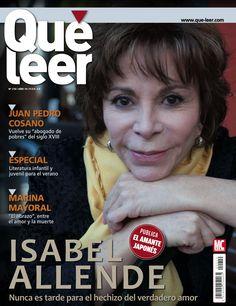 Revista QUÉ LEER 210, portada de junio 2015. Isabel Allende, nunca es tarde para el hechizo del verdadero amor. Especial: literatura infantil y juvenil para este verano.