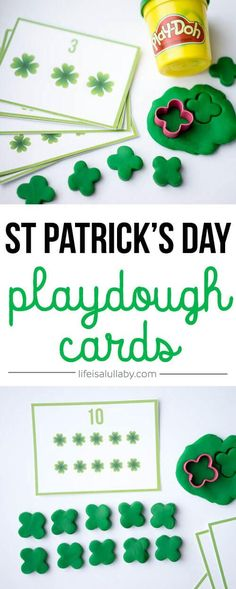 These FREE St Patrick's Day Counting Cards make counting fun! You can count the shamrocks to match the cards!