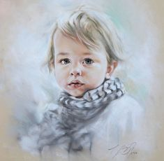 Custom Pastel Portrait Painting of Child from by BograArt on Etsy, $220.00
