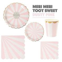 Image result for meri meri dusty pink and gold