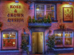 Barrow In Furness, Rose Crown, England, Neon Signs, English, British, United Kingdom