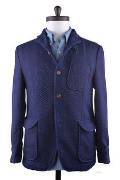 Indigo Heavy Sashiko Jacket - Bespoke Shirts by Luxire. Custom made to Perfection £261