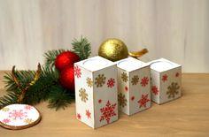 Świeczniki na stół świąteczny kwadratowe Decoupage, Decorative Boxes, Shabby Chic, Xmas, Gift Wrapping, Gifts, Home Decor, Gift Wrapping Paper, Presents