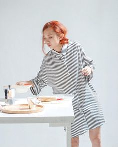 New in: Stripy Shirt Dress (430k) / a staple item for any girl's wardrobe. Váy Stripy Shirt Dress với tay lửng, thân váy rộng rãi thoải mái & chất liệu cotton mềm mịn là một trong những item yêu thích muốn-mặc-hàng-ngày của Naked!  Get yours at NAKED store today or order online at our FB page / Viber 0904121300