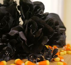 Halloween Black Rose Arrangement