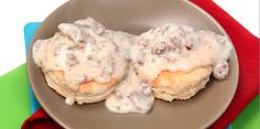Slow Cooker Chip Beef and/or Sausage White Gravy - YUMMY!  www.GetCrocked.com