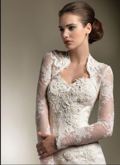 Lace sleeves open front