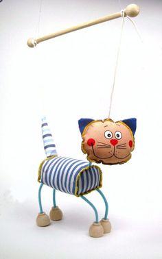 Cat , puppet marionette