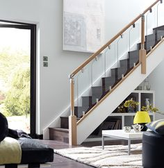Fusion stair parts, modern staircase.