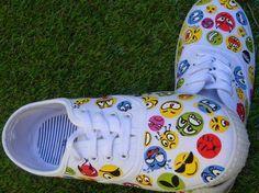 Zapatillas pintadas  a mano Diseño Emoticonos