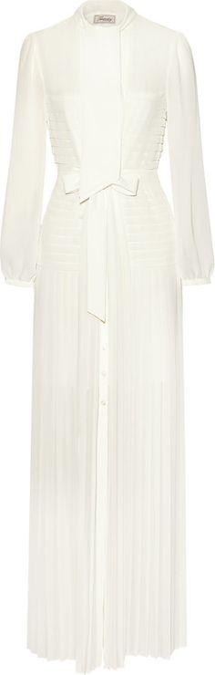 Temperley London Sahara pleated chiffon maxi dress