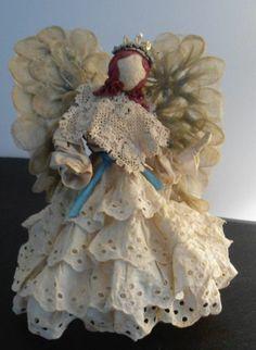 Handmade, Vintage Lace Angel