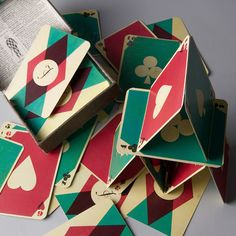 Monogrammed Playing Cards by KERRI CORDEIRO, via Behance