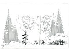 Quick And Easy Landscaping On A Budget - House Garden Landscape Landscape Sketch, Landscape Concept, Landscape Art, Landscape Architecture, Landscape Design, Landscape Engineer, Architecture Concept Drawings, Interior Design Sketches, Nature Drawing