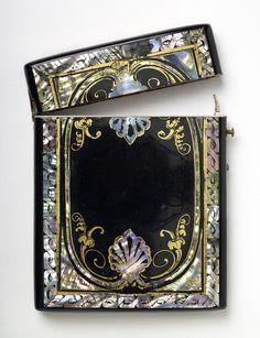 Papier Mâché Visiting Card Case, Ebenezer Sheldon, 1880-1900 - Birmingham Museums and Art Gallery
