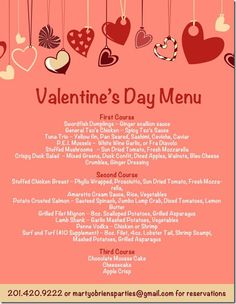 Schön Marty Ou0027Brienu0027s Valentines Day Menu 2012