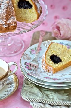 Pink Roses on China is always beautiful.  A gilded tea cu is also nice.  ~MWP - Buttery & Delicate Viennese Cake with Afternoon Tea |