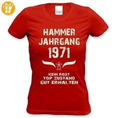 Lustiges Damen T-Shirt zum Geburtstag - Hammer Jahrgang 1971 - witziges bedrucktes Lady Hemd als Geschenk für Frauen, Größe:L (*Partner-Link)
