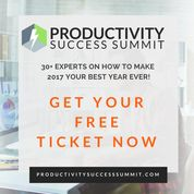 ♥︎ I've got you a ticket… (it's FREE)  The Productivity Success Summit, December 6-9:    YOURFree Ticket HERE... https://rk285.isrefer.com/go/pss-main/freeticket839 This is the time of the year when we promise ourselves  that we'll do everything a bit better in the new year.  But that's the kind of new year's resolution that just doesn't work!