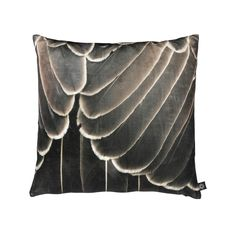 A beautiful close-up of a bird's brown feathers adds a soft yet graphic touch to modern or transitional interiors. Printed as a digital photo print on a cushion in the recognized cotton velvet quality