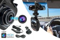 HD 1080p Dash Accident Cam with Night Vision - 32GB SD Card Option!