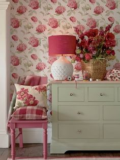 Find sophisticated detail in every Laura Ashley collection - home furnishings, children's room decor, and women, girls & men's fashion. Red Cottage, Cottage Living, Cozy Cottage, Garden Cottage, Shabby Cottage, Shabby Chic Furniture, Painted Furniture, Furniture Ideas, Furniture Design