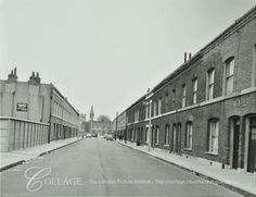 Baxendale Street, Tower Hamlets LB: looking east to Durant Street London Pictures, London Photos, Old London, London City, London Metropolitan, Columbia Road, Tower Hamlets, Bethnal Green, St Albans