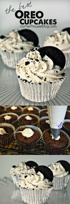The Best Oreo Cupcakes EVER that will have everyone coming back for more.
