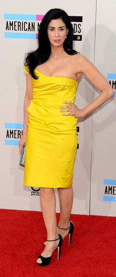 Sarah Silverman wearing #Greymer #shoes @ American Music Awards in Los Angeles #AMAs www.greymer.it