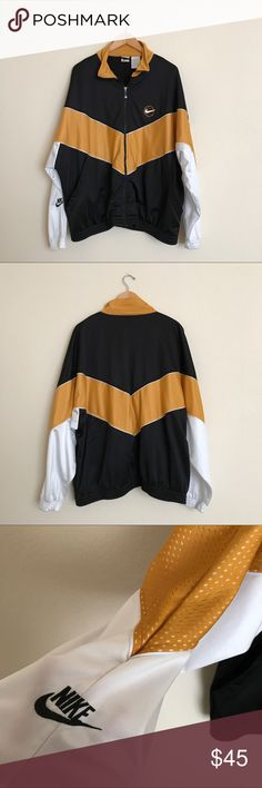 Vintage Nike Basketball Zip Up Jacket Great Pre-Owned Condition. Yellow, Black and White. Nike Jackets & Coats Performance Jackets