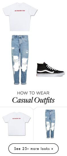 """Casual"" by pendletonanashia on Polyvore featuring Topshop and Vans"