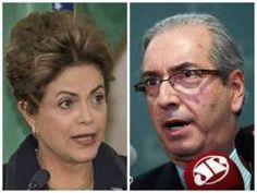 Dilma vs Cunha: A presidente Dilma Rousseff e o presidente da Câmara, Eduardo Cunha