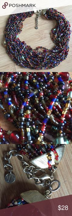 Talbots gorgeous beaded necklace Hurry!! Talbots multi-strand beaded necklace won't last long on PM!! Super versatile, goes with dresses, pants, work or play. Talbots Jewelry Necklaces