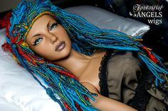 OOAK Fantaisie Wig for SD BJD dolls -- Arabian Nights