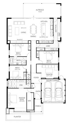 Plunkett Homes. 4 Bedroom House Plans, Best House Plans, Country House Plans, Dream House Plans, House Floor Plans, House Floor Design, Home Design Floor Plans, Home Room Design, Single Storey House Plans