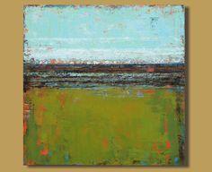 abstract painting painting of field green von SageMountainStudio, $349.00
