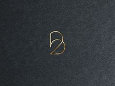 The number 2 and the letter B in a single minimalistic monogram (BB is my initials) B Letter Design, Monogram Design, Monogram Logo, Logo Inspiration, Graphic Design Branding, Lettering Design, Typography Logo, Logo Branding, Globus Logo