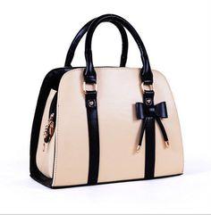 New Fashion Style Lady Handbag Little Bow Beige Rose Leisure Shoulder Bag Purse | eBay