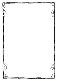 drawn lines & stars paper boarder Drawing Borders, Doodle Borders, Borders For Paper, Borders And Frames, Boarder Designs, Page Borders Design, Borders Free, Simple Borders, Contour Images