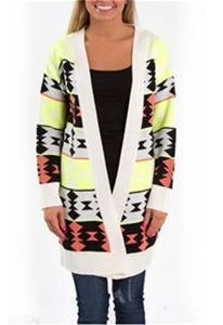 1.19.14. Cozy and comfortable. Neon detailing gives an Aztec print a totally new feel.