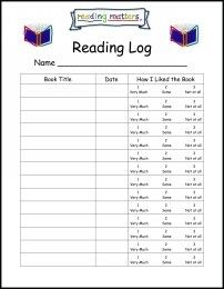 This is a free reading log for your students to enjoy. A simple ...