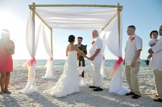 Get married on the stunning white sand of Clearwater Beach, Florida with our Clearwater beach house weddings!