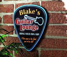 Guitar Lounge Sign $19.95