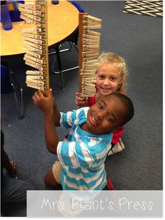 Match clothespins with lower case letters on them to the capital letters on a paint stick in ABC order. #alphabet