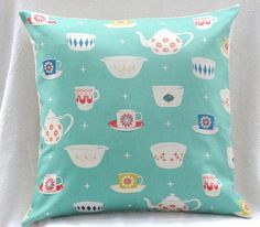 Vintage Pyrex Pillow by norajane on Etsy, $22.00. I may not be able to live without this.....