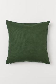 Cotton Canvas Cushion Cover - Dark green - Home All Green Duvet Covers, Duvet Cover Sets, Cushion Covers, Pillow Covers, Home Interior Accessories, Living Room Pillows, White Leaf, Velvet Cushions, Light Beige