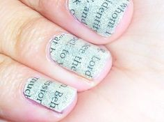 This is a cute idea for the literary minded like myself. #nailpolish #fingernail