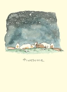 I need to find a companion bunny! illustration by Anita Jeram Drawn Art, Bunny Art, Children's Book Illustration, Stargazing, Sketches, Sketch Drawing, Artwork, Prints, Anita Jeram